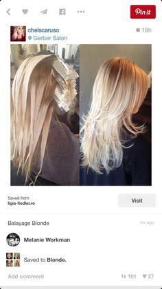 Blond bolyage foils