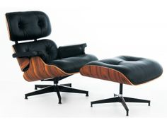 Ok fine, it's a knockoff. But what a gorgeous knockoff -- for 1/3 the price, I'd be at least 3x as happy!  ###  Eames Lounge Chair, Eames Chair, Eames Replica