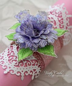 For this weeks first project at Heartfelt Creations I made a napkin ring using the fabulous new Majestic Morning Collection. Flower Cards, Paper Flowers, Fabric Flowers, Heartfelt Creations Cards, Paper Crafts, Diy Crafts, Paper Art, Fancy Fold Cards, Wedding Anniversary Cards