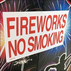 This Fireworks No Smoking Last Ditch Warning is posted directly on a full pallet of the Holiday explosives, mere inches from the touchy stuff. Trestle Table, Corrugated Metal, Merchandising Displays, Fireworks, Close Up, Smoking, Retail, Signs, Holiday