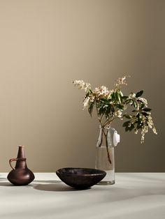 Interior Paint, Interior Design, Textured Walls, Color Inspiration, My House, Bloom, Mindfulness, Vase, Beige