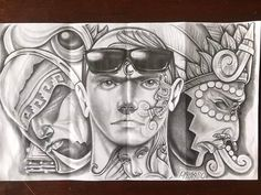 Chicano Art Tattoos, Chicano Drawings, Behind Ear Tattoos, Lowrider Art, Fb Cover Photos, Good Day Quotes, Fb Covers, Woody, Tattos