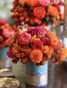 Fifty Shades of Orange {Wedding Inspiration}