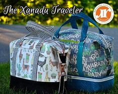 Xanadu Traveler PDF Sewing Bag Pattern- Includes 2 Sizes and 2 Options - RLR  Creations 0944a084d0b27