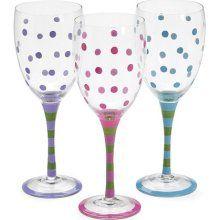 Pastel polka dot glassware