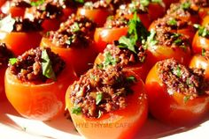 cherry tomatoes with olive tapenade