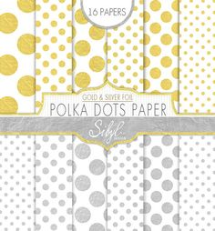 60% OFF SALE Gold And Silver Foil Polka Dots by SibylDesign