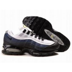 http://www.nkmaxshoes.co.uk/ A1xf3 Nike UK - Air Max 95 Essential Mens White Dark Obsidian-Black