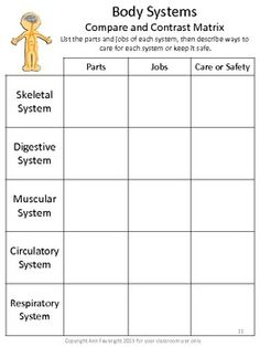 Body Systems Scavenger Hunt - Ann Fausnight - TeachersPayTeachers.com