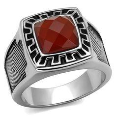 Nz014 Agate Men's  Ring