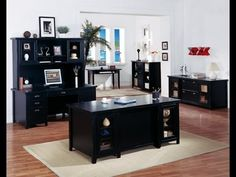 Black Office Furniture   Black Home Office Furniture Collections
