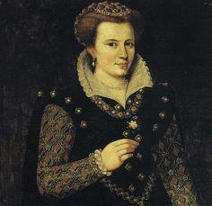 Marfisa d'Este (1554-1608) Daughter of Francesco d'Este and one of his mistresses. Her paternal grandparents are Alfonso I d'Este and Lucrezia Borgia