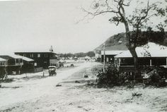 James Street, Burleigh Heads, Gold Coast, Queensland, 1927 - showing at left the Imperial Refreshment Room Gold Coast Queensland, Gold Coast Australia, Brisbane Queensland, Queensland Australia, Bloor Homes, City Library, Picture Places, Rooftop Garden, Historical Photos