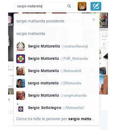 Vediamo insieme alcuni falsi profili Twitter del neo-eletto Presidente Sergio Mattarella