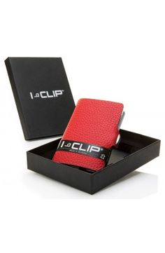I-CLIP Rakouská telecí kůže – červená