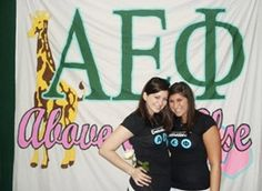 Alpha Epsilon Phi Banner #Greek #Sorority #AEPhi #AlphaEpsilonPhi #Giraffe