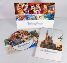 #Disney #Parks and #Destinations #vacation planning #DVD DVD-ROM #disc and #brochure #guide set for #getaway #travel #trip to #Disneyland #California and Walt Disney World theme #park and #resort from 2015, brand new and unused in original manufacturer's blue and white cardboard insert sleeve case and full color promotional paper inserts…
