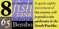 Bembo® font download