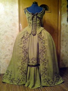 18' th century dressnew embroidery technique by staniliev on Etsy