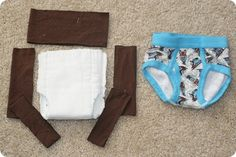 diy training pants - for those still in training or for long car rides for the newly trained!