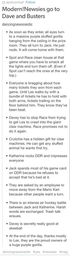 I can totally see this happening except Race wouldn't stop trying to get Les into the claw machine and I think Les would eventually get stuck in it XD<<I can see that