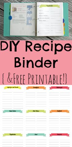 Learn how to organize all of your recipes in a cute and functional recipe binder! With free printable!