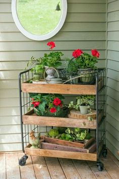 Garden cart for front porch