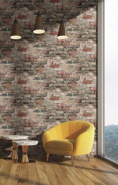 Modern Art Wallpaper Modern Art, Brick, Chair, Wallpaper, Furniture, Home Decor, Decoration Home, Room Decor, Wallpapers