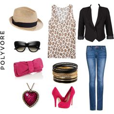 Casual Animal print outfit