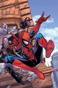 Spiderman by Steve Mcniven Amazing Spiderman, Art Spiderman, Comic Book Characters, Marvel Characters, Comic Character, Comic Books Art, Comic Art, Marvel Comics, Marvel Art