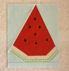 Watermelon by One ShaBby ChiCk, via Flickr Paper Piecing Patterns, Quilt Block Patterns, Pattern Blocks, Quilt Blocks, Foundation Patchwork, Foundation Paper Piecing, Watermelon Quilt, Quilting Projects, Sewing Projects