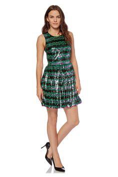 Venda French Connection / 28117 / Mulher / Vestidos e macacões sem mangas / Vestido com sequins Verde