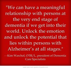 Unlock the emotion, unlock the potential for persons with Alzheimer's.
