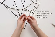 Magdan kotona: Diy uusi lamppu + ohje Sissi, Wooden Chandelier, Pendant Light Fitting, Diy And Crafts, Paper, Home Decoration, Paper Crafting, Wardrobes, Paint