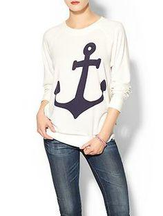 Anchor sweatshirt.