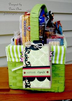 Road Trip Basket - what a fun idea to pair with a weekend trip.
