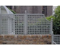 this exact lattice treatment. I also chose to scoop the end like this. It was the perfect way to finish off the edge softly.Have this exact lattice treatment. I also chose to scoop the end like this. It was the perfect way to finish off the edge softly. Garden Trellis Panels, Wall Trellis, Trellis Fence, Garden Privacy, Garden Gates, Privacy Fences, Privacy Trellis, Trellis Ideas, Trellis Design