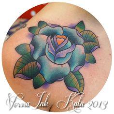 http://tattoosbykata.blogspot.fi, https://www.facebook.com/VorssaInk, #tattoo #tatuointi #kata puupponen #vorssa ink #forssa #finland #pin up #rose #traditional tattoo