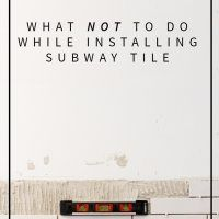 Lessons In Subway Tile