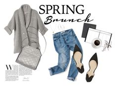 """""""Spring Brunch Wardrobe Stables"""" by littlemisscupcake88 ❤ liked on Polyvore featuring Banana Republic, Michael Kors and Paul Andrew"""