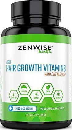 Hair Growth Vitamins Supplement – 5000 mcg Biotin & DHT Blocker Hair Loss Treatment for Men & Women – 2 Month Supply With Vitamin A & E to Stimulate Faster Regrowth + Care for Damaged Hair #HairLossTreatmentForWomen&Men #haircaregrowth #hairlossbiotin