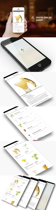 6oz. - Concept design for iOS by Yu Nagasawa, via Behance