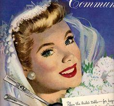 vintage pinup bride weddings 1949 advertisement community