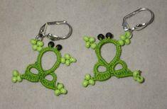 Orecchini rana verde tropicale Sexxy, design originale, pizzo gioielli, orecchini chiacchierino, pizzo leggero, estroso, fatto a mano