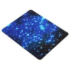 22x18cm Blue Starry Sky ratón Alfombrilla antirresbaladizo para juegos ratón para computadora portátil