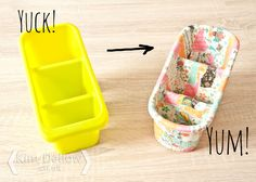 Turn a cutlery drainer into storage