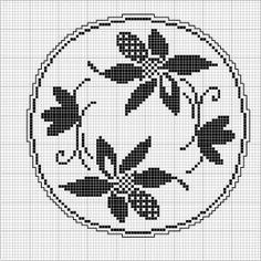 Round 31 | Free chart for cross-stitch, filet crochet | Chart for pattern - Gráfico