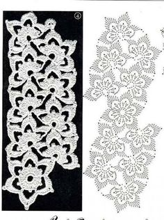 51 Ideas Crochet Lace Tape Diagram Watches For 2019 Filet Crochet, Crochet Lace Edging, Crochet Motifs, Freeform Crochet, Crochet Diagram, Crochet Stitches Patterns, Crochet Chart, Lace Patterns, Crochet Designs