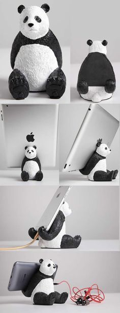 Cartoon Panda iPad Mobile Phone Charging Station Dock Holder