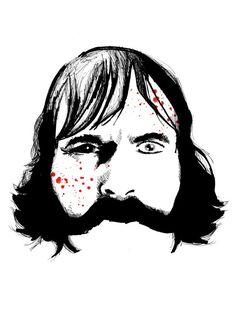 Bill The Butcher Fine Art Print by LVBart on Etsy, $15.00